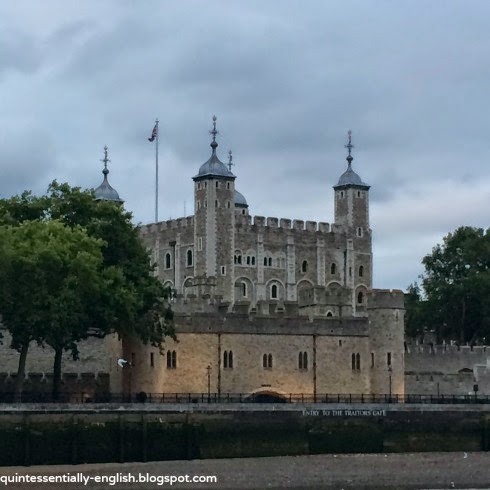 The Tower of London from the River Thames - London, England