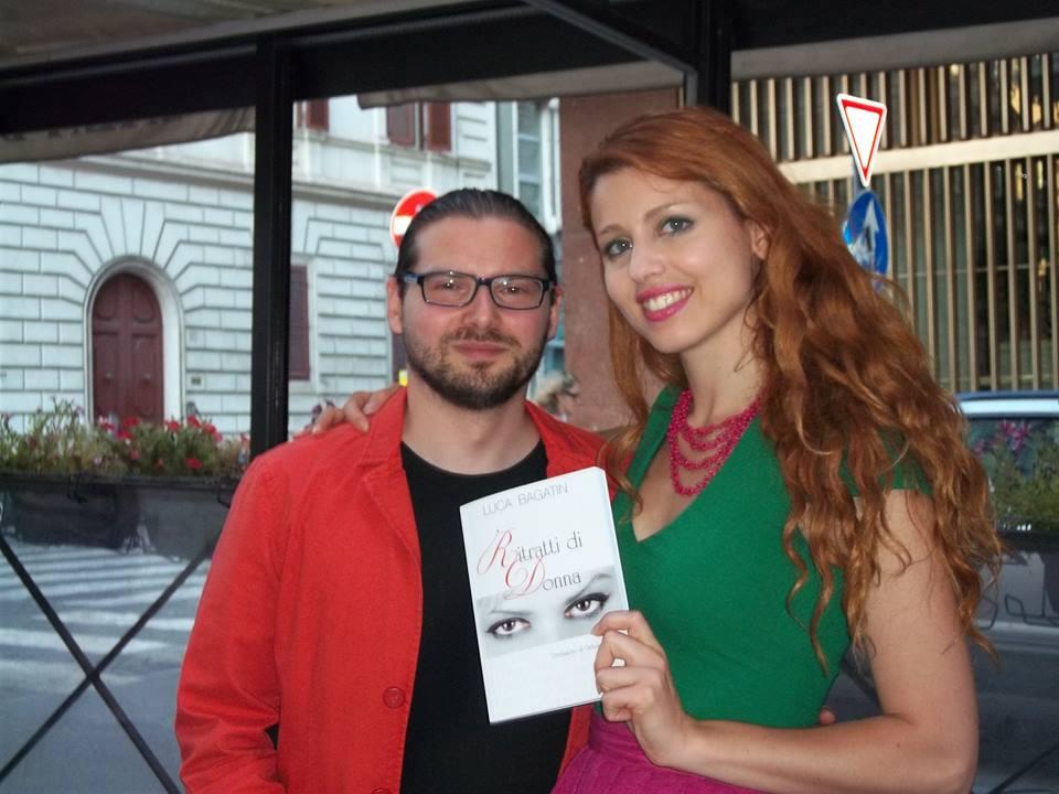 Luca Bagatin con la conduttrice tv Metis Di Meo (estate 2014)