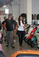 Kim Kardashian checking out some motors at a store in Miami Beach