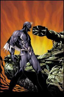 Ilustração de Raio Negro por Jae Lee para a saga Inumanos