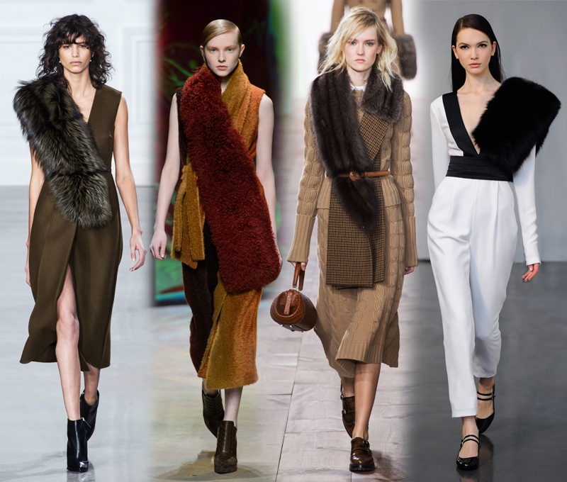 von vogue nyfw fall 2015 trends faux fur stole