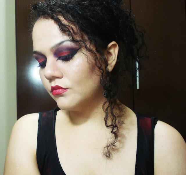 Tutorial maquiagem Gótica, Vermelha, Makeup, gothic
