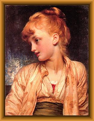 niña pelirroja cuadro de Frederick Leighton