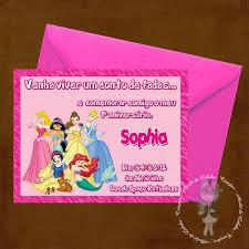 modelo de convite princesas