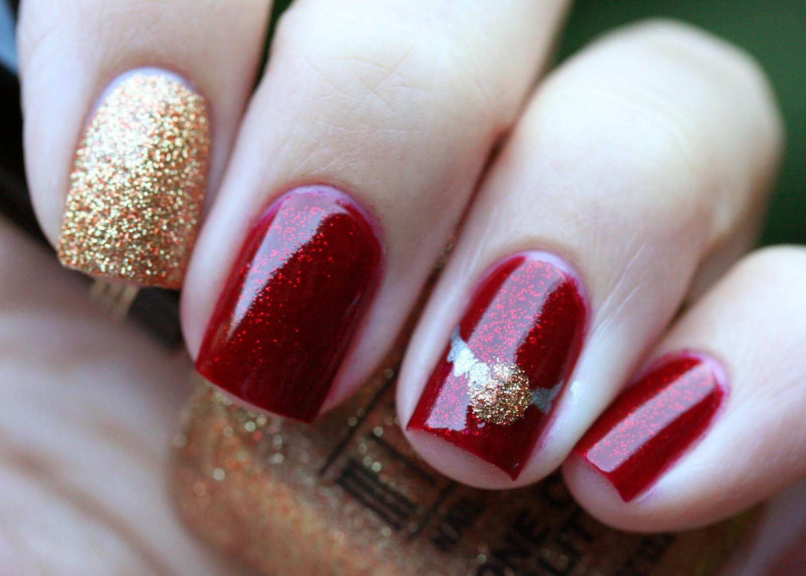 The Nail Network: Gryffindor Inspired mani :)
