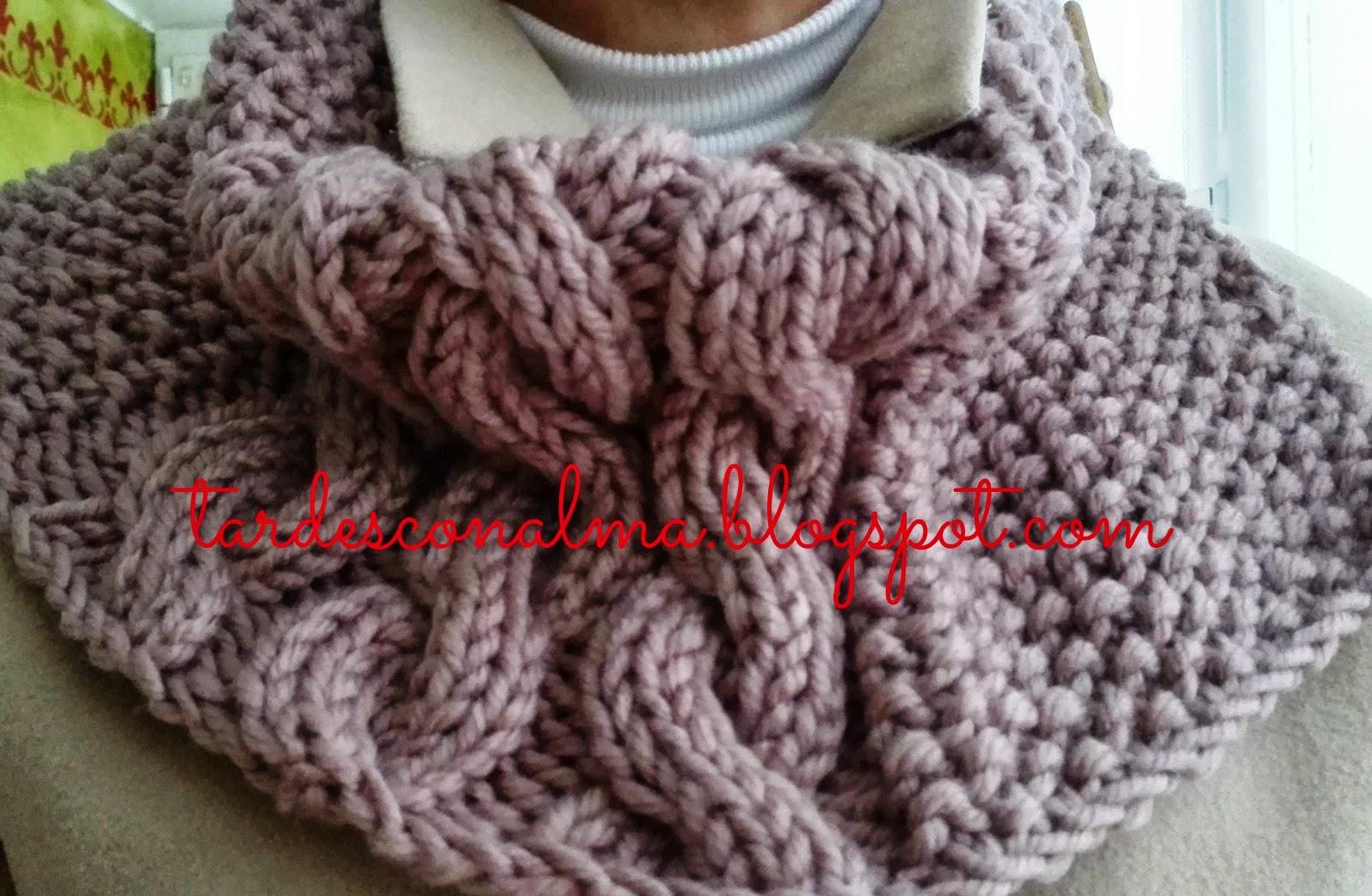 Tardes con alma bufanda o cuello modelo octo - Puntos de lana ...