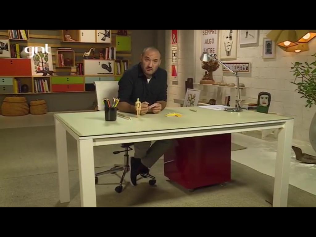 Cenário escritório onde Marcelo Rosenbaum apresenta seus projetos no Decora GNT