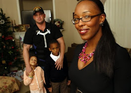 Rom. writer Latriva Nelson with hubby and kids..