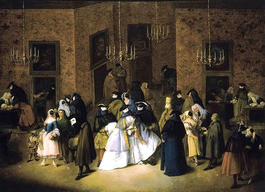 The Ridotto in Venice by Pietro Longhi, 1750s