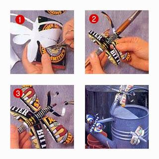 วิธีทำ แมลงจากกระป๋องน้ำอัดลม