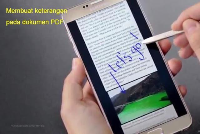 Buat tanda di dokumen Samsung Galaxy Note 5