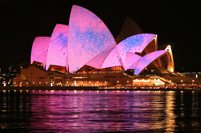 Pink Lights Up In Sydney Opera House
