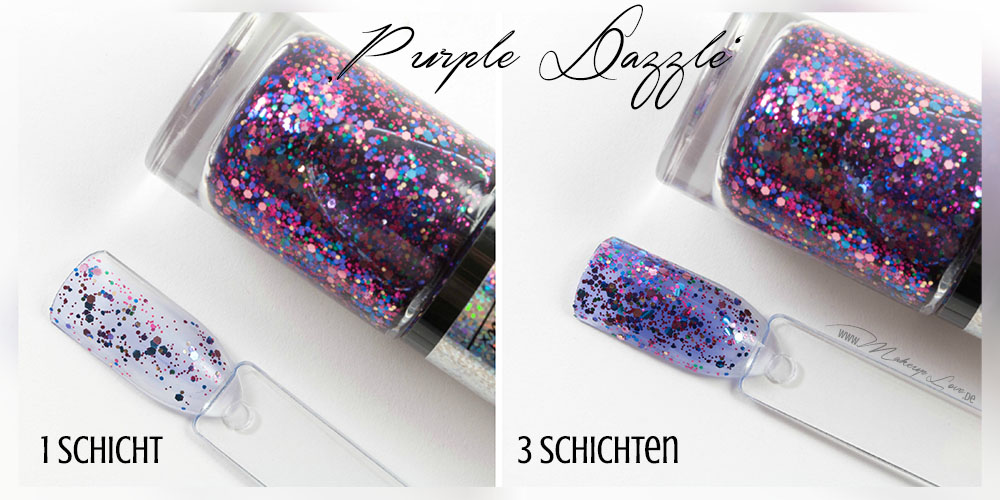 Maybelline Colorshow Nagellacke | BE brilliant! Kollektion purple dazzle swatch