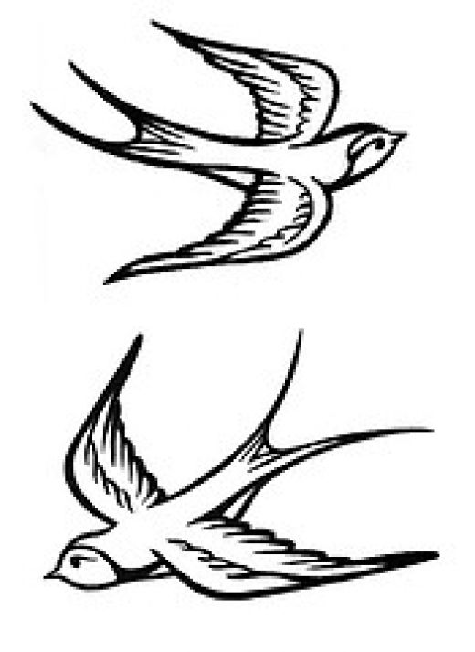 flying bird tattoo. tattoos of irds for girls.