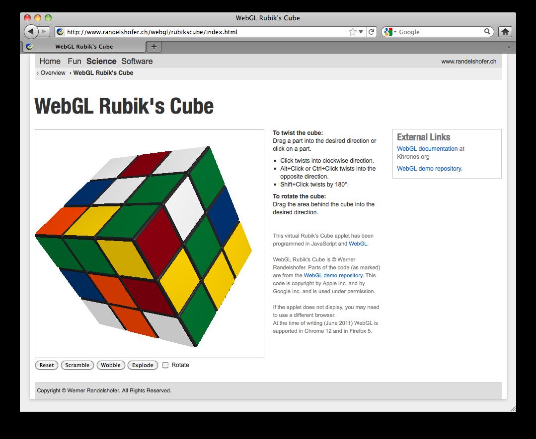HTML5 Rubik's cube online Game