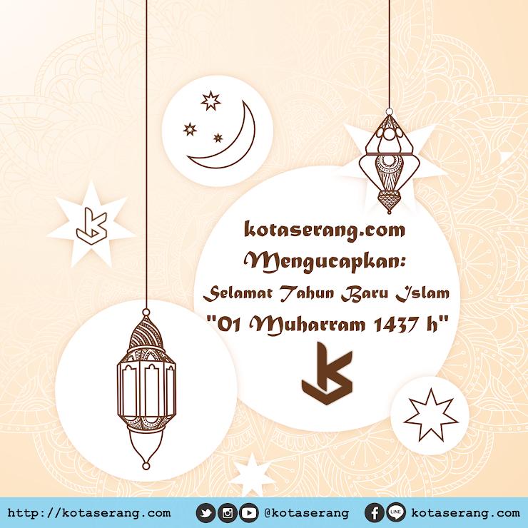 Gambar Vector - Gambar Ucapan Tahun Baru Islam 1437H KotaSerang
