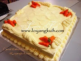 Carrot Walnut Cheese Cake