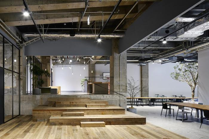Vosgesparis organic shapes in an industrial enviroment for Japanese office interior design