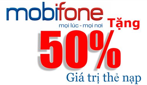 Chi tiết Mobifone khuyến mãi 50% thẻ nạp 30-31/12/2014