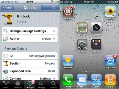 GridLock Cydia Tweak