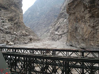 Khab bridge in Himachal ( kinnaur )