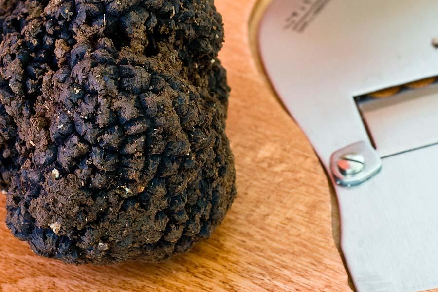 risotto allo zafferano con funghi e tartufo