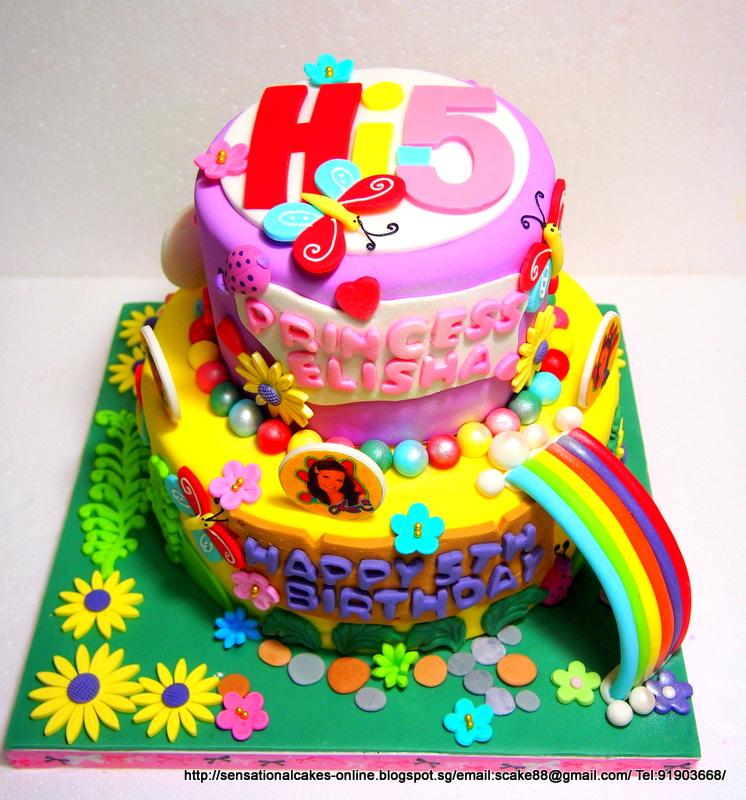 The Sensational Cakes Hi 5 2 Tier Cake Singapore Garden Theme