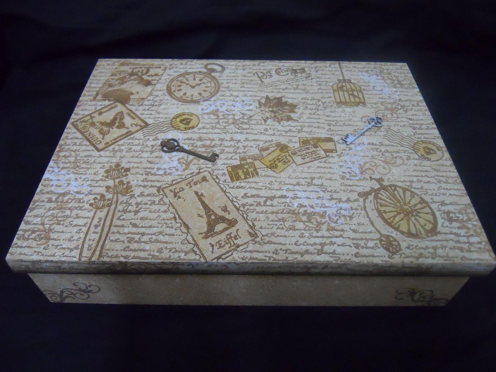 Cursos de Artesanato em Madeira Pintura Country: Caixa de documentos #15131C 1600x1200