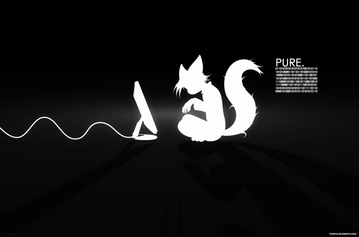 White Cat Hacker Wallpaper   Pure Evil
