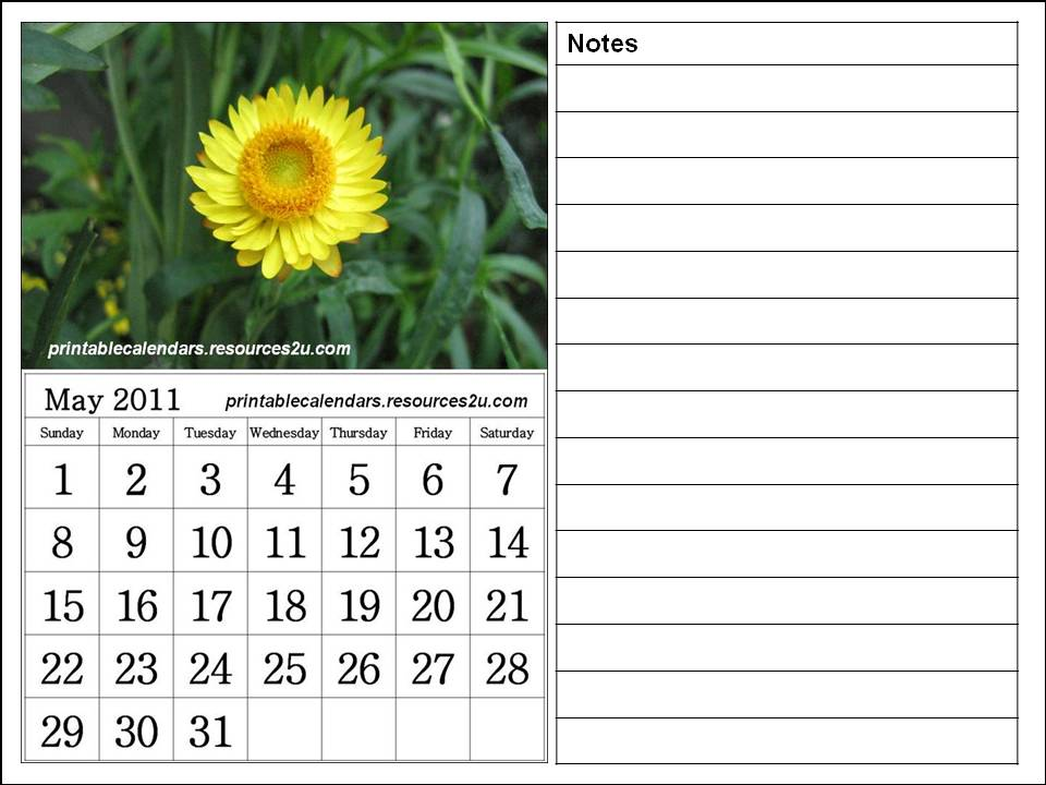 may 2011 calendar printable. See other May 2011 Calendars :