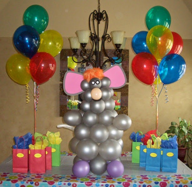 Gambar balon dekorasi ulang tahun anak gratis