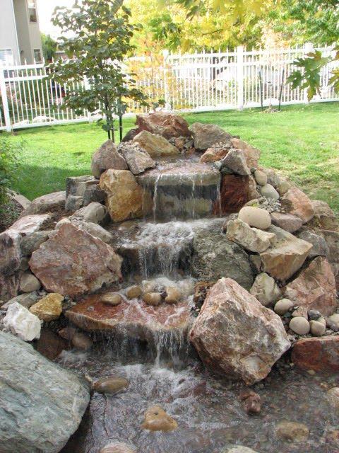 Kbt waterfalls pondless waterfalls for Small backyard waterfalls