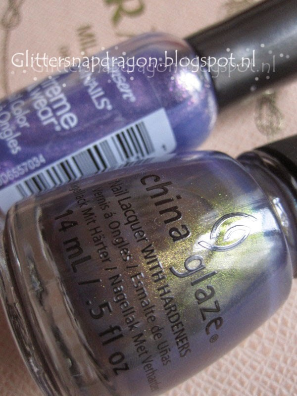 China Glaze Choo-Choo Choose You Sally Hansen Pink-Grape Fruit