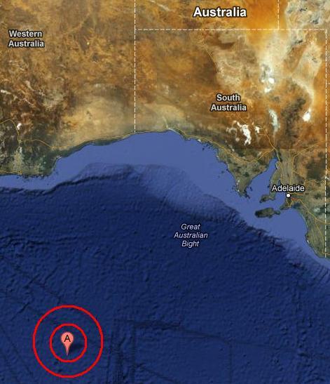 SOUTH OF AUSTRALIA earthquake 2012 November 09