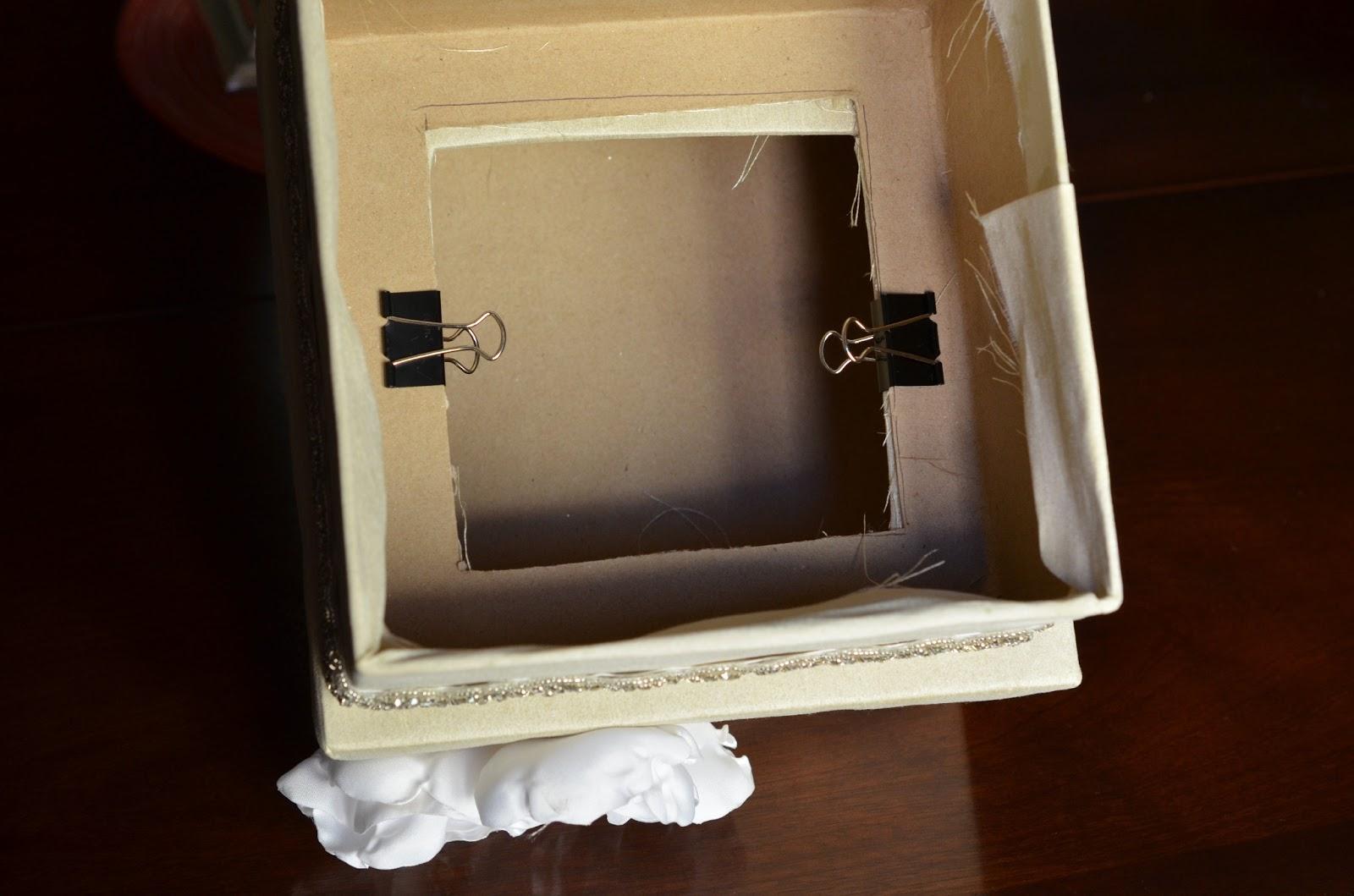 DIY Wedding Card Box Tutorial Andrea Lynn HANDMADE – Diy Card Box for Wedding
