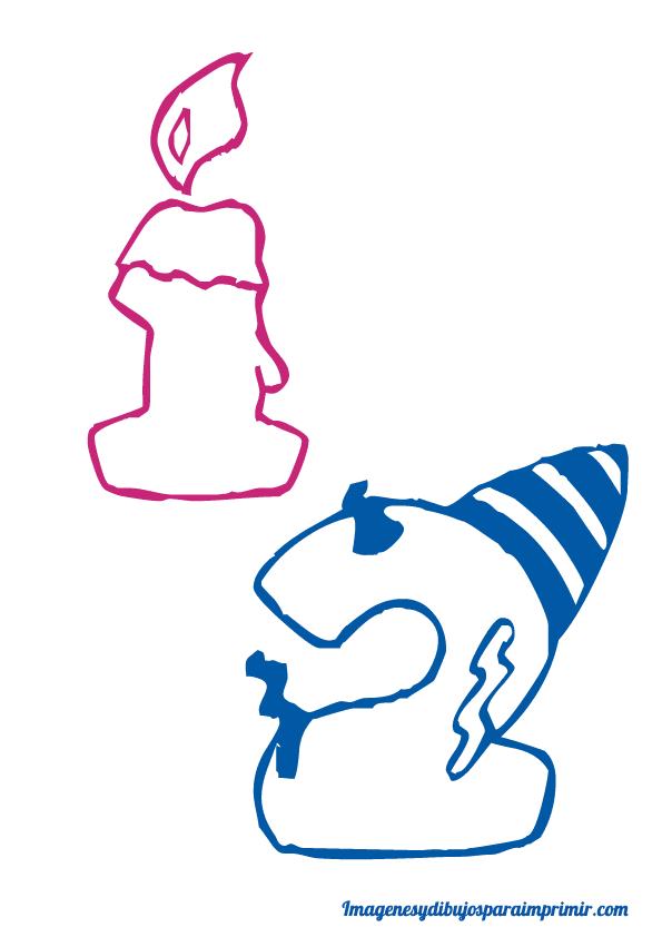 Números infantiles de cumpleaños