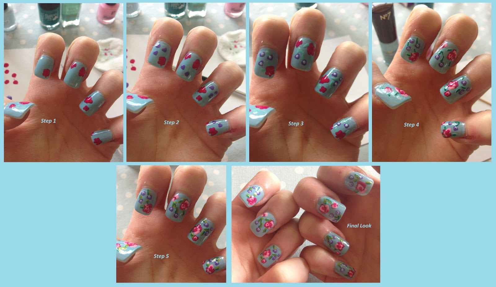 Step By Step Nail Art Instructions Step by step guide.