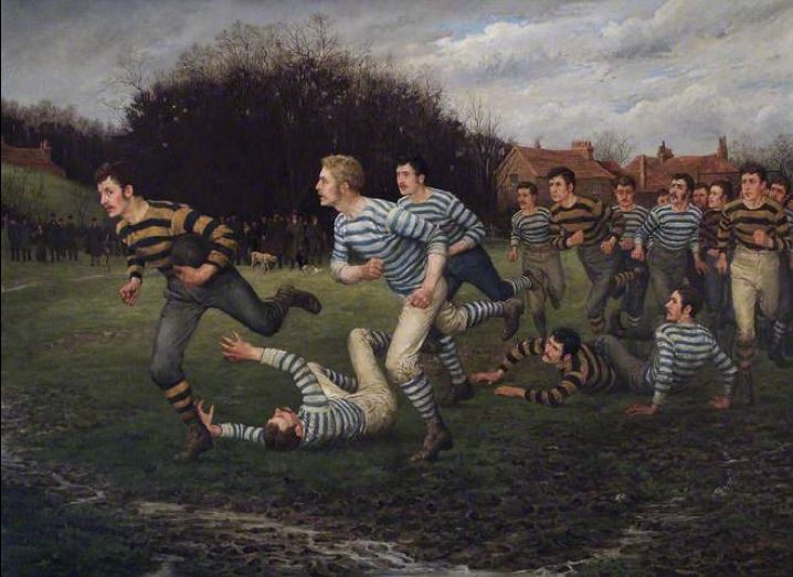 the development of football since the 19th century Rugby was loosely known as football but usually people would call it rugby to   and canadian football both developed in the mid-19th century, evolving from the   development in football, well after the handling game had been established.