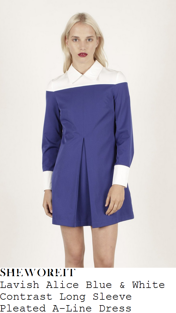 sam-faiers-white-and-blue-contrast-long-sleeve-pleated-shirt-dress