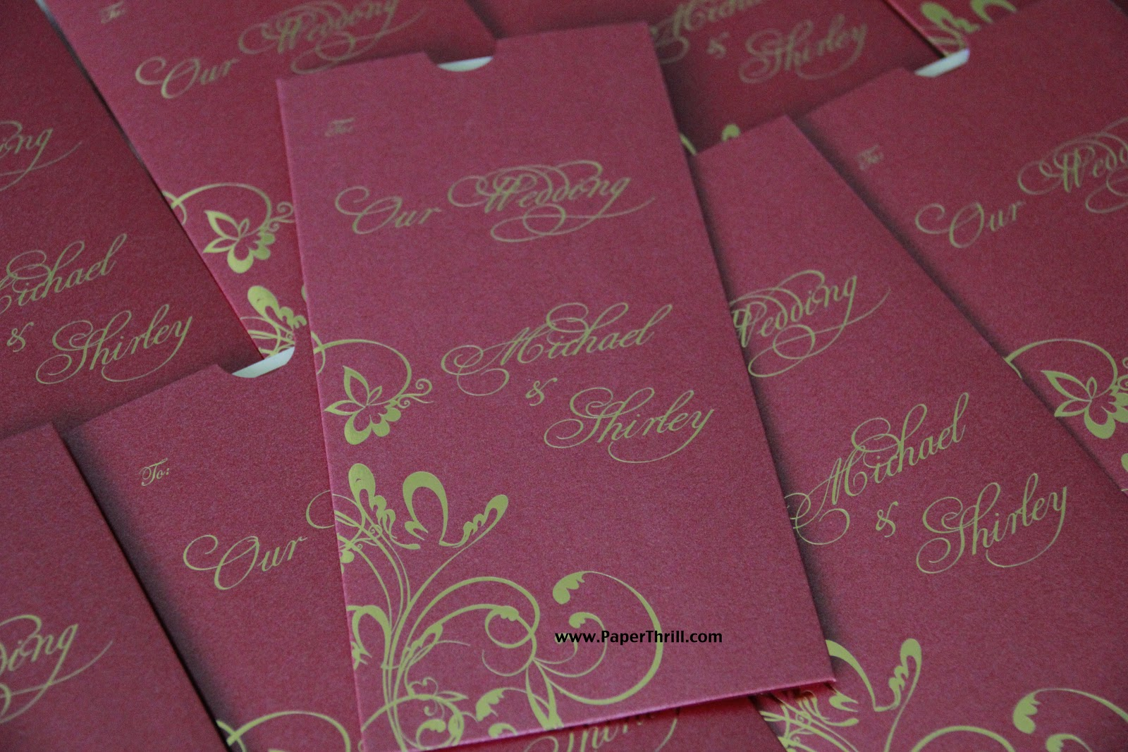 Michael\'s floral swirl wedding invitation | Malaysia wedding ...