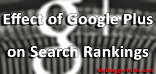 Google Plus Effect On Search Rankings