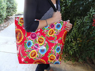 Recycled Crafts:  oil cloth bag
