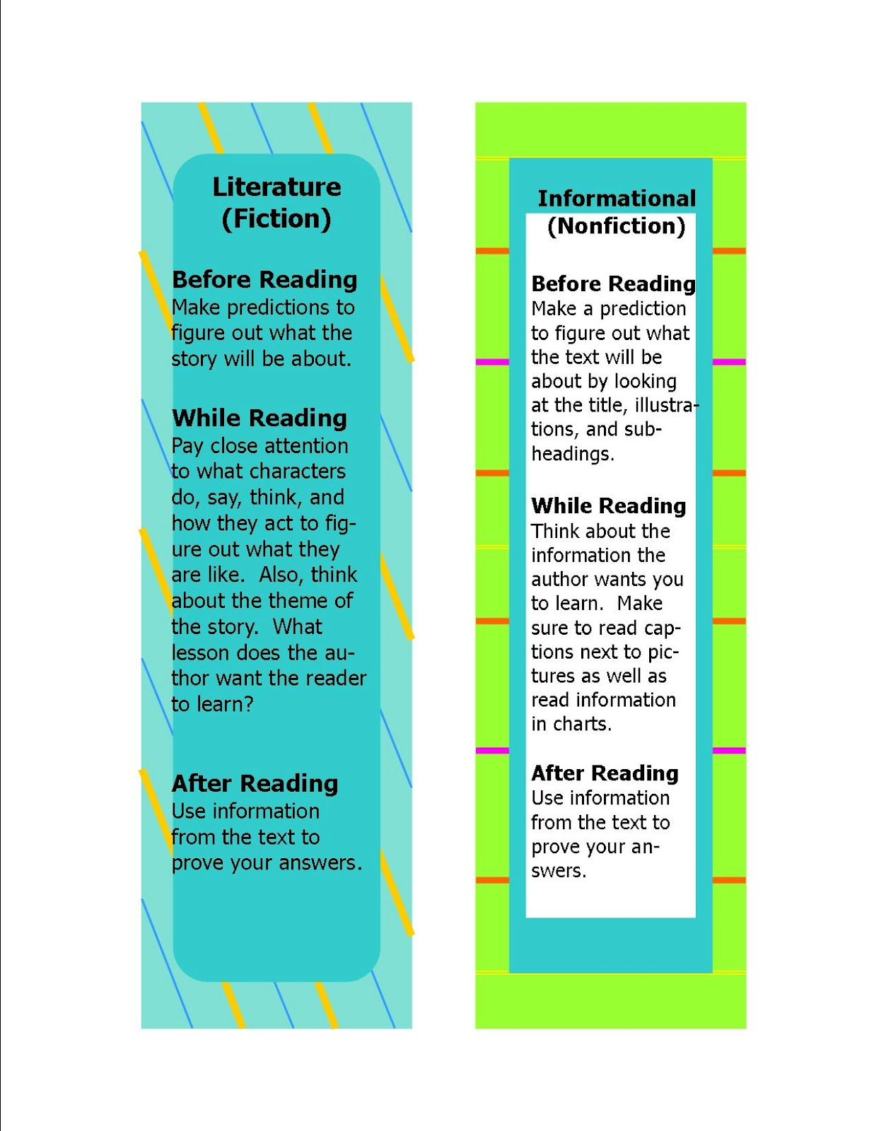 Literacy & Math Ideas: Free Common Core Standards Bookmarks