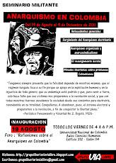 Seminario militante: Anarquismo en Colombia