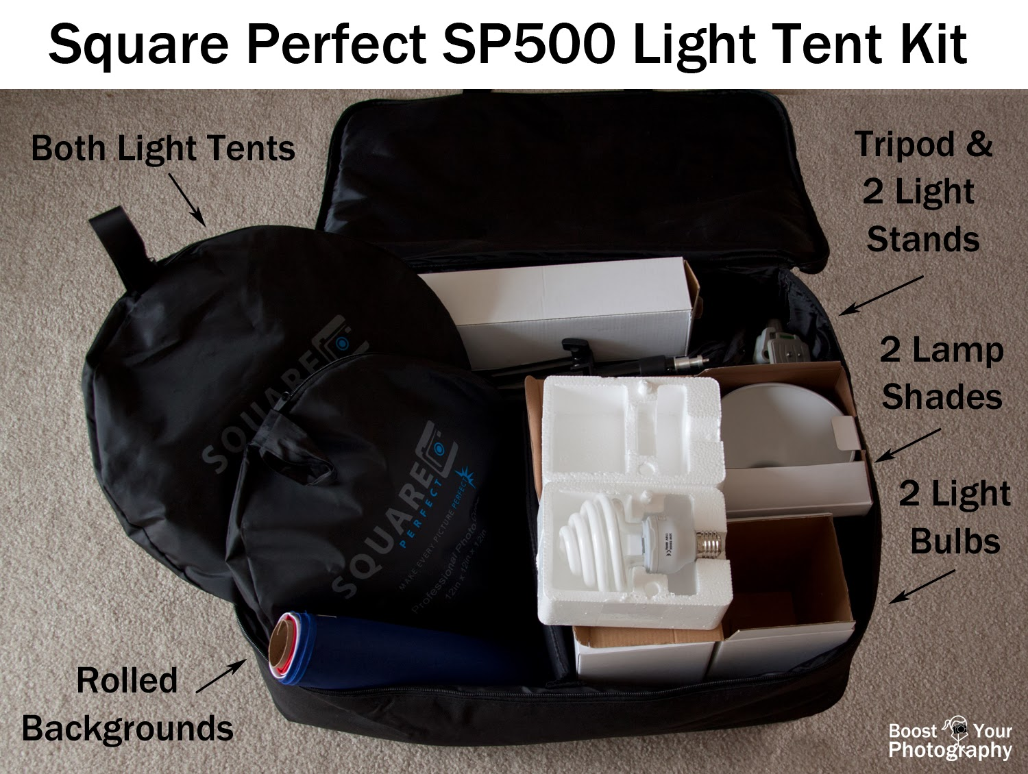 Square Perfect SP500 Platinum Photo Studio in a Box Light Tent | Boost Your Photography