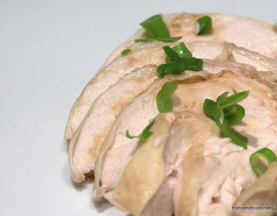 thehomefoodcook - hainanese chicken rice - chopped chicken