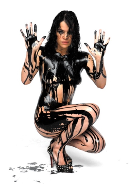 MICHELLE RODRIGUEZ NUDE IN BODY PAINT PHOTO SHOOT!