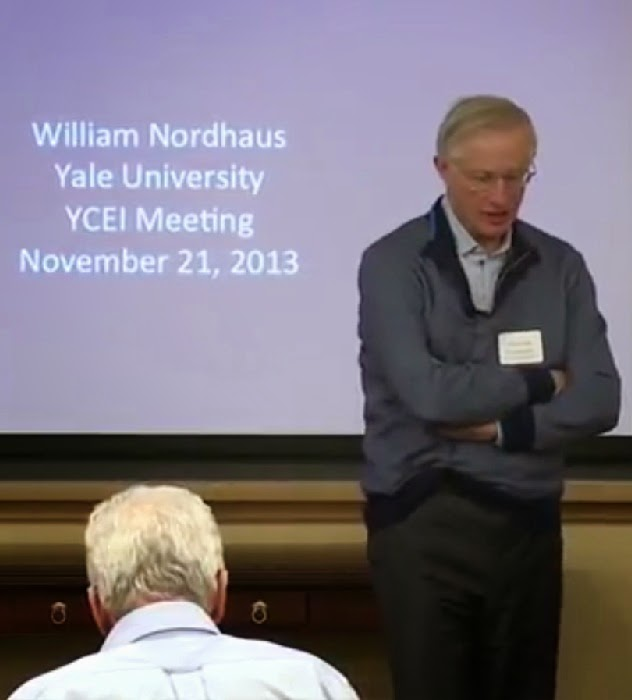 William Nordhaus, Yale University YCEI Meeting, November 21 2013.