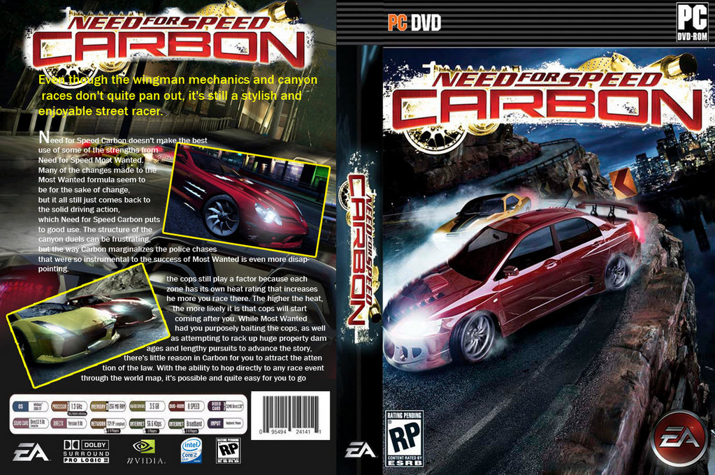 Need For Speed Carbon PC Game CD Cover