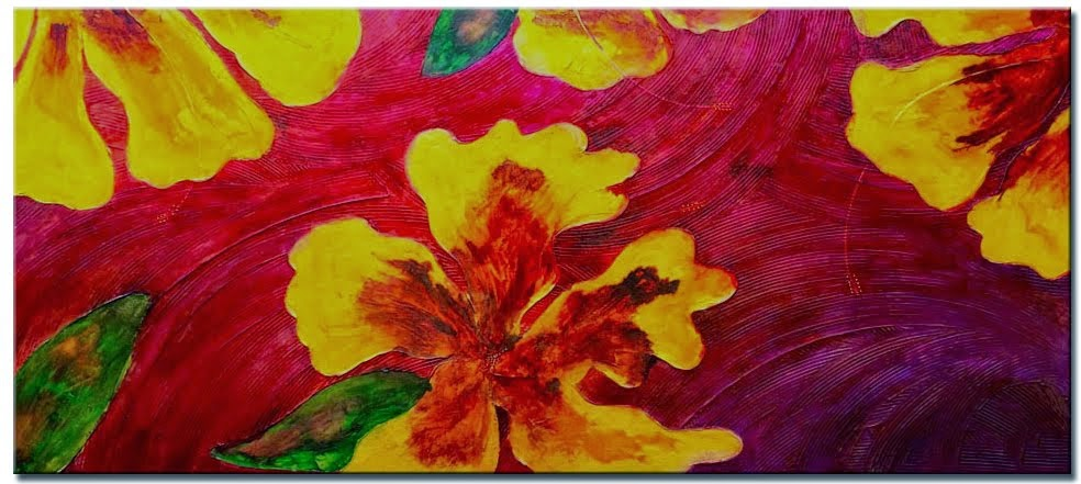 "Original Abstract Painting ""Paradise 2"" by Artist Dora Woodrum"
